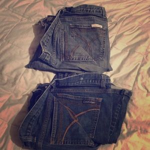 Lot of 2 Calvin Klein Jeans 16